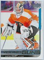 2018-19 Upper Deck #491 Carter Hart YOUNG GUNS Rookie > Philadelphia Flyers