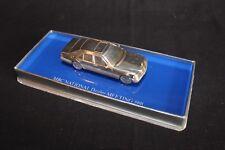 "Silver Model Mercedes-Benz S-Class W140 1:64 (?) silver ""MBC Meeting 1991"" (JS)"