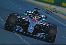 Lewis Hamilton Signed 8X12 Inches 2018 Mercedes F1 Photo