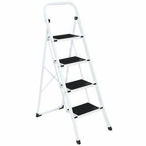 4 Steps Ladder Folding Anti-Slip Safety Tread Industrial Home Use 300Lbs Load