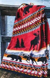New Oversized Cedar Run Southwest Bath Beach Pool Gift Towel Cabin Moose Bears
