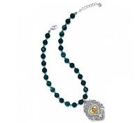 NWT Brighton DEVOTION SACRED HEART Blue Bead Swarovski Crystal Necklace $98