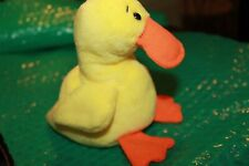 Ty Beanie Baby QUACKERS with ERRORS Rare PVC