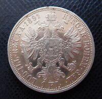 AUSTRIA / SILVER 1 FLORIN 5./ 1891 / EXTRA!