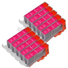 10 para Canon Cartuchos + Chip Cli 521 Agenta Ip 3600 4600 4700 Mp 540 MP550