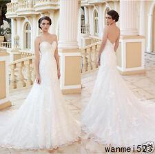 Vestidos de Novia Wedding Dress Mermaid Chic Backless Sweep Train New Bride Gown