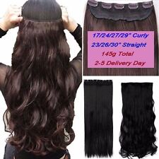 100% Real as remy human Hair Clip in Full Head Hair Extensions Extention Wavy US