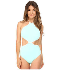 731a7571c33d7 Kate Spade Cut out High Neck One Piece Swimsuit Caribbean Sky Size M Medium