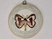 Butterfly/Moth Ceramic Jello Mold Kitchenware Wall Hanging ABC Bassano Italy
