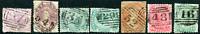 TASMANIA: (19078) QV mixed group numeral postmark/cancels