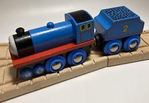 Vintage BRIO BRAND Thomas Wooden Railway Edward HTF 96 Allcroft Tender Train Set