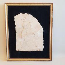 Bas relief sculpture ethnique Asie Indonésie? Bali? personnage homme