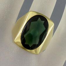 Herrenring Ring mit Turmalin in 333/8k Gelbgold - Gr. 63