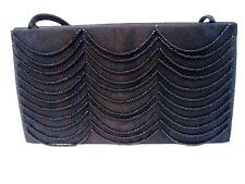 Victoria Secret Women's Clutch Wallet Strap Purse Handbag Beaded Black