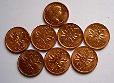 7 x 1 Cent Canada 1960-1966, UNC. MS 63