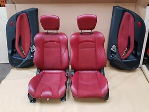 NISSAN 370Z RED LEATHER SEATS WITH DOOR CARDS 40TH ANNIVERSARY D1