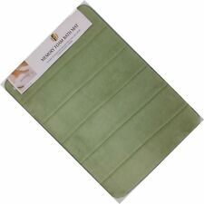 Lot of 3 (1) 20X32 & (2) 17X24 Memory Foam Sage Green Bath Mats Non-Slip