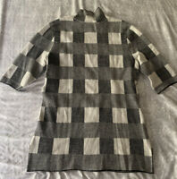 Ann Taylor Black And White Checkered Short Sleeve Shirt Womens XS