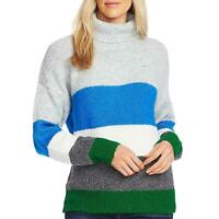 Vince Camuto Womens Colorblock Turtleneck Wool Blend Sweater Top BHFO 2830