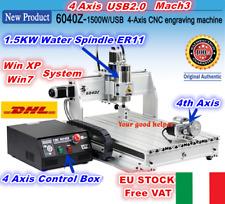 【IT+EU】6040 4 Axis USB Mach3 1500W CNC Router Engraving Milling Machine Kit 220V