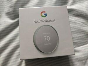 Google Nest Smart Programmable Wifi Thermostat FOG Brand New Sealed