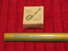Vintage Advertising Snap-Rule Roll Up Ruler In Box Jasper TX Federal Savings & L