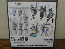 Vintage French advertising plaque, tiled square trivet 1987, Cerim Italy