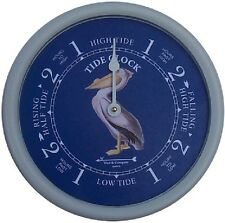 "9 1/2"" PELICAN TIDE CLOCK BY WEST & CO."