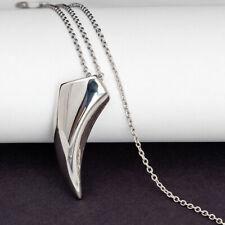 Ankerkette rund Halskette mit Anhänger Eckzahn 2 mm  45 cm Länge