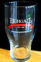 British / UK - Highgate Brewery (Midlands) Pint Beer Glass (Pre 2006)