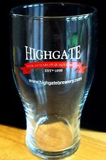 British / UK - Highgate Brewery (Midlands) Pint Beer Glass (Pre 2006)