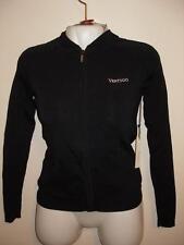 NEW Vertigo Paris Black Hoodie Full-Zipper Jacket Long Sleeves Rayon Medium