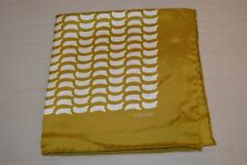 $165 NWOT TOM FORD Bronze w/ Ivory geometrics Men's silk pocket square Italy
