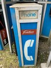 Vintage Phone Booth Kiosk Walkup On Post Payphone Telephone Coin GTE Frontier