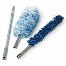 O-Cedar Dual-Action Microfiber Duster Set with Extendable Handle, New, Free Ship