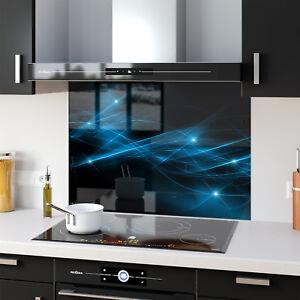 Splashback Kitchen Glass Cooker Printed Flashes 0068 BESPOKE 600x645 mm
