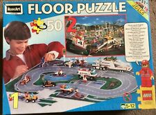 Lego Race Double Sided Floor Puzzle - very good condition - 100% complete