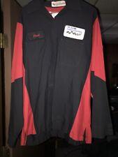 Vintage 90s Mechanic Auto Shop Shirt Men's L-RG Long Sleeve EUC Red/black