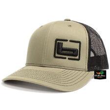 """NEW BANDED GEAR TRUCKER CAP HAT LODEN BLACK W/ """"b"""" SIDE LOGO ADJUSTABLE"""