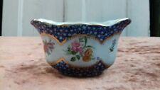 More details for antique george jones crescent china blue white sugar ? bowl gold gilding flowers