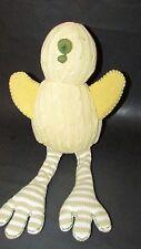 Pottery Barn Kids Pbk plush Duck sweater knit yellow tan striped long legs