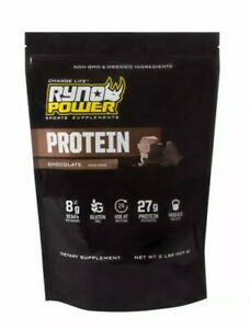 Ryno Power PPC4657 - 2 lbs Chocolate Protein Powder Dietary Supplement Exp 2/23