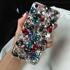 Rhinestone Lady's Diamond Bling Jewelled Crystal 3D Hard Back Phone Case Cover