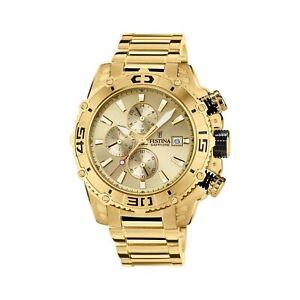 Festina F20492-1 Men's Gold Tone Chronograph Wristwatch