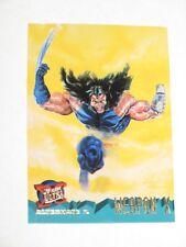 1995 FLEER ULTRA X-MEN WOLVERINE WEAPON X PROMO CARD! RARE ALTERNATE X!!!