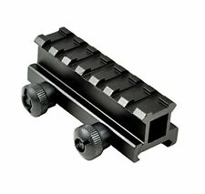 Easy to Install & Mountable Scope Riser See Through Rail for 7 Picatinny Slots