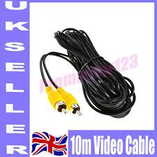 10m 30FT AV To AV RCA to RCA AV VIDEO Extension Cable For Reversing Camera