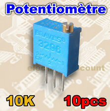 1526-10K/10# Potentiomètre multi-tours 10K ohms 10pcs