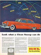 Vintage 1954 Magazine Ad Buick Look What a Clean Sweep Can Do Century Skylark