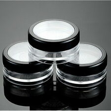 Plastic Loose Powder Jar Powder Puff Boxes Empty Cosmetic Container Case Nice